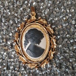 RARE❤Ca.1910 ITALIAN CAMEO GOLD FILLED